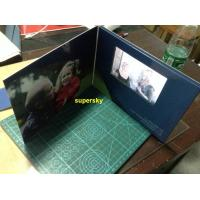 China 7 Inch A4 A5 Size LCD Video Book  / Lcd Invitation Card With 4G Memory wholesale