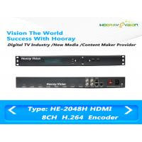 China 8 Channel HD H.264 / MPEG4 Audio Video Encoder With 8CH HDMI Input / IP Output wholesale