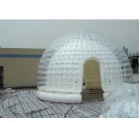 China Semi Transparent Inflatable Bubble Tent / Yard Tent with white PVC tarpaulin wholesale