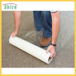 China 500g / 25mm Carpet PE Protection Film Transparent Anti Dust Protective Film on sale