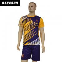 China Custom Sublimated Anti-Shrink 100%Polyester Football Jersey for Adults & Kids wholesale