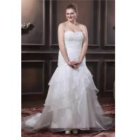 China Mermaid Organza Women Plus Size Designer Wedding Gowns with Applique Cake Skirts on sale