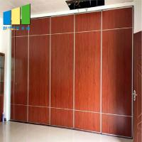 China Collapsible Foldable Soundproof Flexible Moving Sliding Door Partition Walls For Wedding Hall wholesale