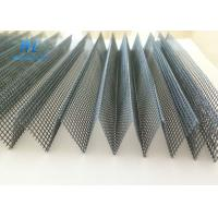 China Grey Black Plisse Insect Screen With Good Air Liquidity / Elegant Net Form wholesale