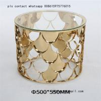China simple modern style metal furniture stainless steel base coffee table wholesale
