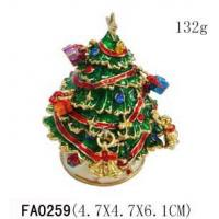 China Christmas Tree And Snowman Collectible Christmas Trinket Boxes wholesale