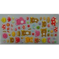 Removable decorative puffy sticker for kids