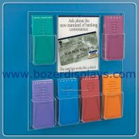 China China Wholesale Wall Mount Brochure Rack With Multi-Pockets on sale
