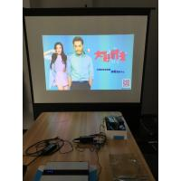 China Front And Rear Manual Projection Screen Fast Fold For Family Cinema wholesale