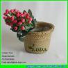 China LUDA handmade Gift  natural seagrass round straw baskets wholesale