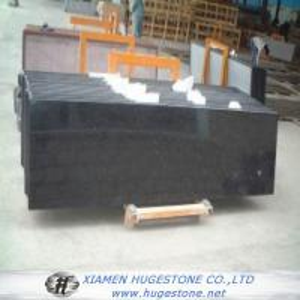 High Polished Absolute Black Granite Countertop, China Black Granite Countertop