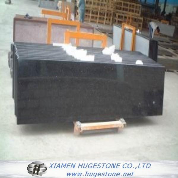 Quality High Polished Absolute Black Granite Countertop, China Black Granite Countertop for sale