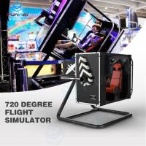 China Intelligent Induction Seat Belt 720°  VR Flight Simulator In Malls 3.5KW wholesale