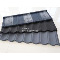 China Colorful Stone Chip Coated Metal Roof Tiles / Galvalume Steel Roof Tile Sheets wholesale