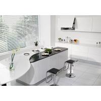 White Lacquered Complete Kitchen Cabinet Set MDF Front Chipboard Carcass Acrylic