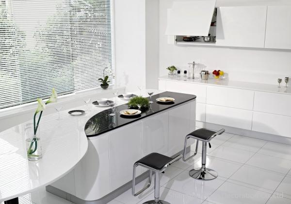 Quality White Lacquered Complete Kitchen Cabinet Set MDF Front Chipboard Carcass Acrylic for sale