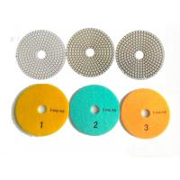 China White 3 Steps 4 Inch Wet Diamond Polishing Pads For Stone / Marble wholesale