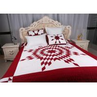 China Unique Lone Star Geometric Bedspreads And Coverlets Red / White For Home wholesale