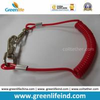 China Solid Red Spiral Coil Tool W/Hooks Tether 4mm Cord Dia wholesale