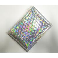 China Customized Holographic Bubble Mailers Shiny Color With Ziplock Closure Recyclable wholesale