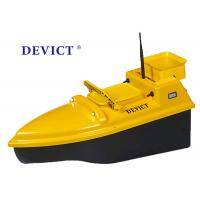 China Yellow Rc Boat With Fish Finder , DEVC-103 Remote Control Bait Boat 4 class product for fishing wholesale
