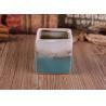 8oz Square Transmutation Glazed Candle Holder Ceramic Different Colors Or Pattern