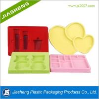 China Luxury Artistic Flocking Tray For Cosmetic , Plastic Makeup Tray wholesale