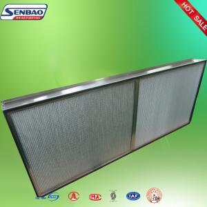 Buy cheap Глубоко плиссированная высокотемпературная алюминиевая фольга фильтра Хепа промышленная from wholesalers