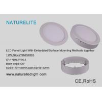 Led Panel Light 12W With Embedded / Surface Mounting Methods Together