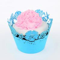 China Customized Handmade Elegant Paper Cupcake Wrappers , Muffin Paper Wrappers wholesale