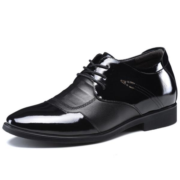 Quality Elevator Oxfords Shoes Black Genuine Leather Party Dress Shoes for Men for sale