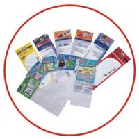 China Recyclable Self Adhesive Transparent Plastic Sticker Bag With Header wholesale