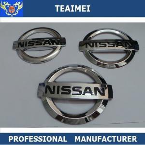 China 3D Car Logo Custom Emblems For Cars Silver Chrome Car Auto Badges Emblems wholesale