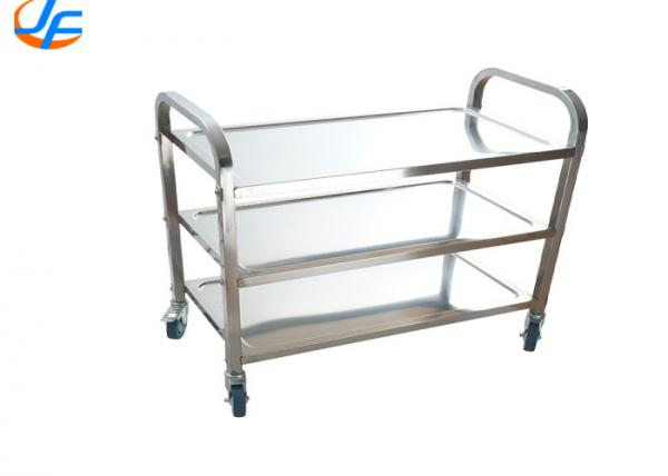 Quality 500*300*500mm Baking Tray Trolley , 201/304/316 Tray Serving Trolley for sale