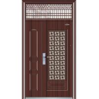 China Dual-Leaf Steel Security Door with Transom Window(LL06-303) wholesale