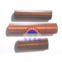 China Monometallic Finned Tube HIGH FINNED TUBE is an integral extended surface tube designed primarily for applications which require high outside to inside surface area ratios such as heating or cooling gases. MATERIALSAll sizes are produced in DHP Copper(C12 wholesale