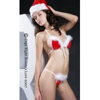 China Miss Santa Bra set,Christmas wholesale