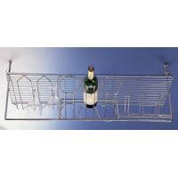 China Overhead 3-bottle wire rack and 12 glass holder wholesale