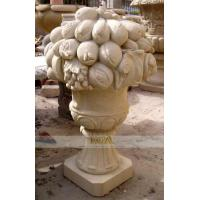 China marble carving-figure flowerpot wholesale