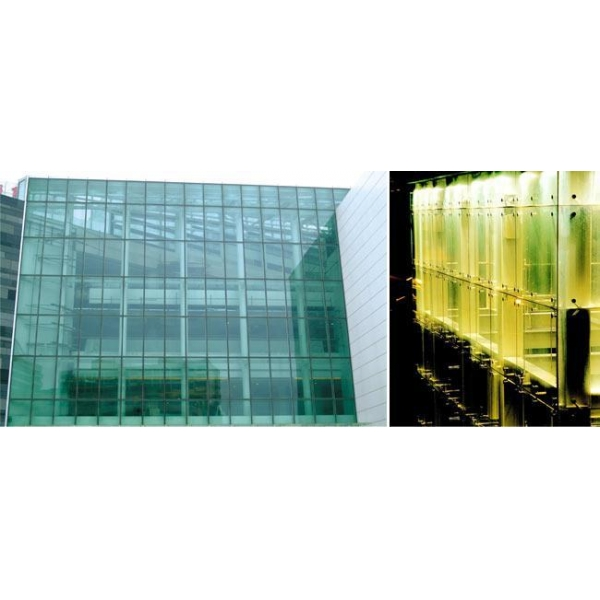 Curtain Wall Elevation : Structural member type semi hidden frame glass curtain