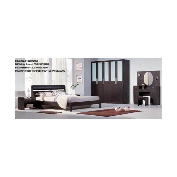 Night view of the bedroom with partition wall - 9202 Living Room 9202 Wall Unit 9201 Partition Cabinet