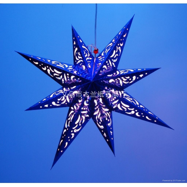Image gallery star lanterns for Paper star lamp