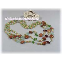 China 5-6mm multi colour nugget pearl with crystal beads wholesale