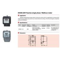 China Meter Current Transformer DD282(DD17)series single phase Watthour meter wholesale