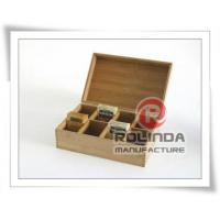 China Wooden grid tea box wholesale
