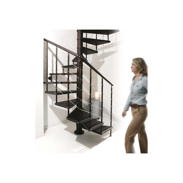 Square spiral stairs scenik q chic line by albini fontanot for Square spiral staircase