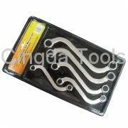 China Double Ring Offset Wrench 5pcs S-Shape Box  Wrench Set wholesale