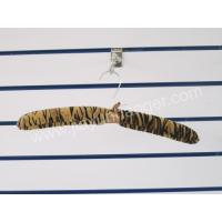 China stain hanger series Leopard pattern cloth padded hanger JYS013 wholesale
