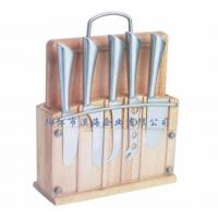 China 7Pcs Cheese Knife Set with Cutting Board and Wood Block wholesale