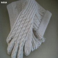Buy cheap Pure wool jacquard knit white gloves from wholesalers